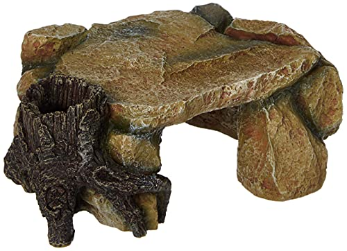 Trixie 8847 Felsplateau mit Baumstamm, 25 cm