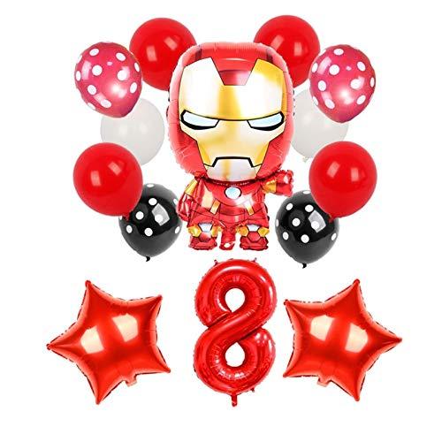 DONGMAISM Globo 1 Set Dibujos Animados Spiderman Iron Man Hombre Foil Balloons Superhéroe Fiesta de cumpleaños Decoración Regalos for niños Juguetes for niños Decoración de Fiesta (Color : 2)