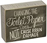 Primitives by Kathy Home- Bathroom Box Sign, 5' x 4', Toilet Paper