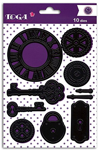 Toga DCG540 sjabloon, metaal, 14 x 21,5 x 0,2 cm, zwart