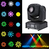 Lixada Moving Head Light 8 colors and 8 gobos Spot Light led sound activated professional 9/11 channel Stage Light for Disco KTV club party wedding… (30W)