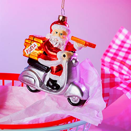 Sass & Belle Fun Food KAYXM033 Weihnachtskugel in Form eines Weihnachtsmanns