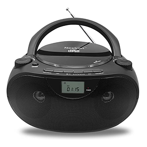 Nextron Portable Bluetooth CD Player Boombox with...