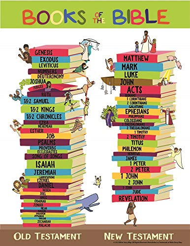 Books of the Bible Learning Chart Poster 17' x 22'...