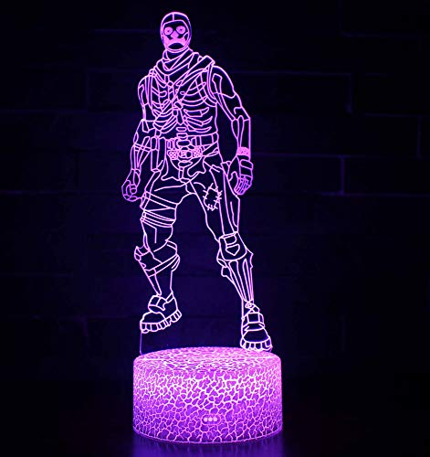 3D Illusion Nuit Lumière Win-Y LED Bureau Table Lampe 7 Couleur Tactile Lampe Maison Chambre Bureau Décor pour Enfants D'anniversaire De Noël Cadeau (Skull Trooper)