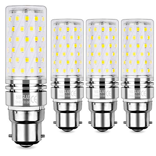 Sauglae B22 Lampadina di Mais LED 15W, Bianca Naturale 4000K, Equivalente a Lampadine a Incandescenza 120W, 1500 Lumen, Lampadine a LED a Cappuccio Baionetta, 4-Pack