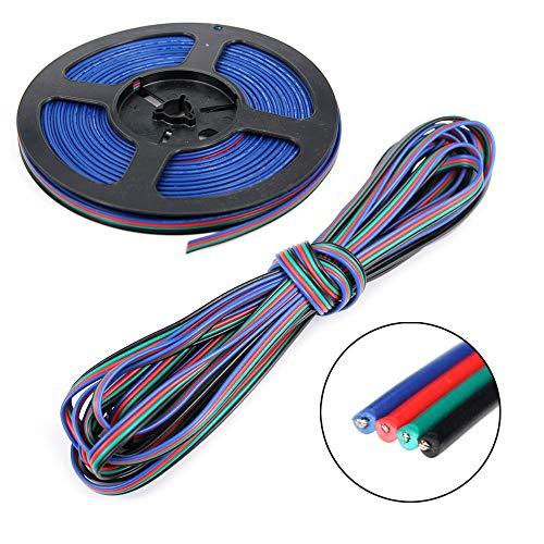 UltraBright 5m 10m 20m 4 Polig Adrig Dauerhaft Daten Kabel Draht Verlängerungskabel Linie Verbinder für SMD RGB LED Fee Beleuchtung Strip Licht Streifen (20 Meter)