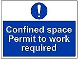 Vsafety 42021bf-r obligatorio maquinaria Sign, plástico