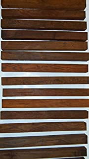 """29 highly figured cocobolo turning squares, kd, 17"""" inches long, TRUE ROSEWOOD"""