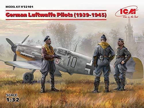 ICM 32101 German Luftwaffe Pilots 1939-1945, 1/32 Scale Plastic Figure Model Kit