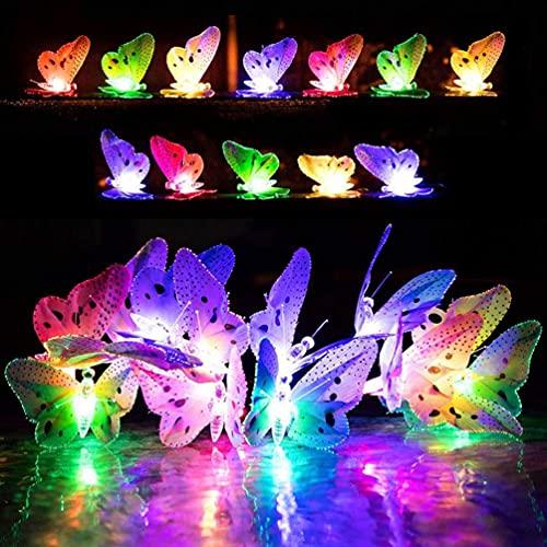 LEDMOMO Lichterkette Solar LED Schmetterlings Form Garten Bäume Terrasse Party Fest Dekorationen Beleuchtung