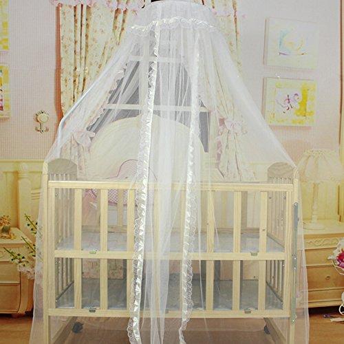 Bluelans® Ciel de lit en polyester blanc moustiquaire, protection contre les insectes pour lits, 170 x 470 cm (beige)