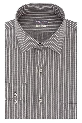 Van Heusen Flex Collar Stretch Stripe Camicia da Cerimonia, Crepuscolo, M Collo 14 cm, Manica 81/84 cm Uomo