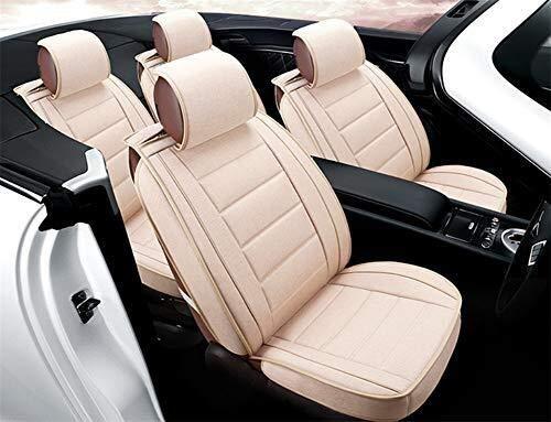 Preisvergleich Produktbild Winter Leinen Fünfsitzer-Auto-Sitz In Umgeben von Four Seasons Universalsitzbezug for die meisten Fünfsitzer Autos,  Beige