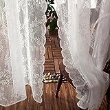 QIYANAI Cortinas de Pliegues de lápiz, Antisolares Semi Pura Gasa,Cortinas de Gasa, para los Paneles de Sala Sencillo Moderno 1 Dormitorio-A W:280XH:250cm