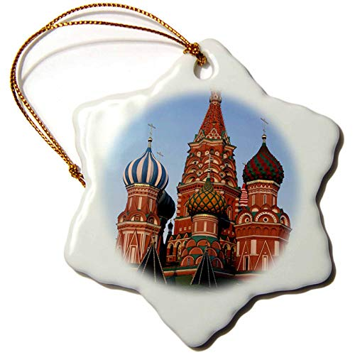 3dRose Russia, Moscow. St Basils Cathedral in Red Square - EU26 KWI0024. - Ornaments (ORN_138749_1)