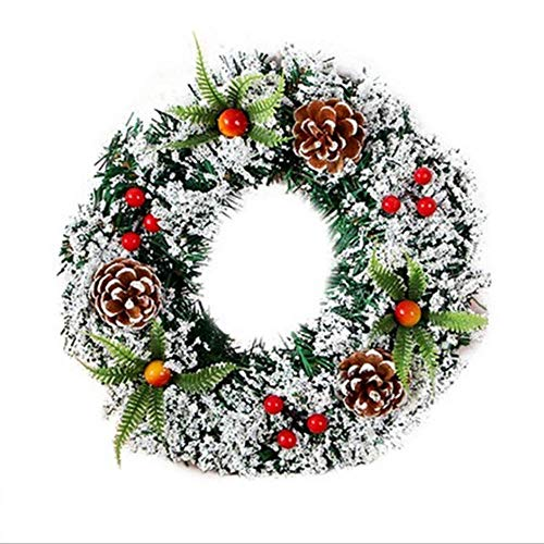 Christmas Wreaths for Front Door,Holiday Decorations Garland for Indoor Outdoor Home Party Hanging Decorations Wreath.(16 inch)