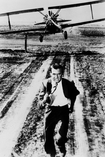Cary Grant in North by Northwest 24x36 Poster classic being chased by crop duster plane