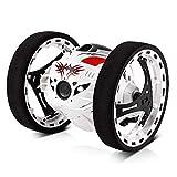 Remote Control Car 360 Remote Control Stunt Car Light Up Toy para niños con sonido encendido / apagado, recargable Turbo Twister Power Wheels Racing RC Stunt Cars Niños Niñas Juguetes (Color: Blanco