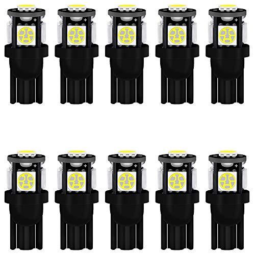 10-Stück Weiß T10 194 168 501 Glühlampe 12V Hohe Helligkeit Lampe Litch