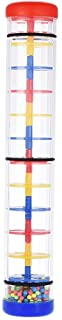 """Colorful 12"""" Rainmaker Rain Stick Musical Instrument Toy for Toddler Kids Games KTV Party"""