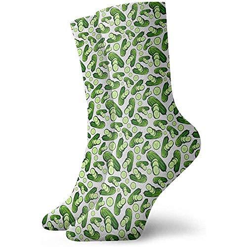 NA Jongens Meisjes Crazy Funny Fashion Groentesegurken Sokken Cute Novelty Dress Socks
