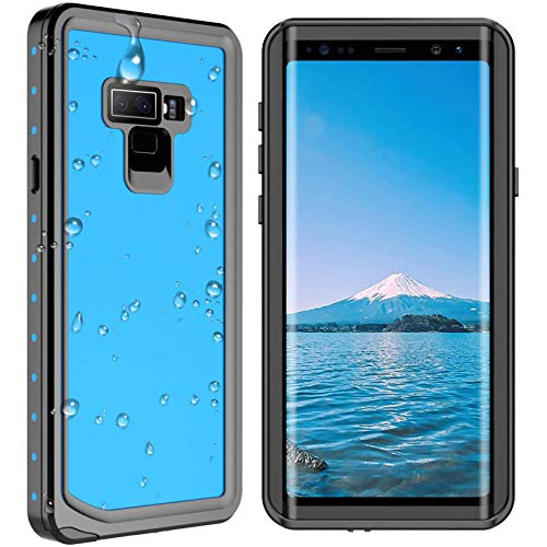 SPIDERCASE for Samsung Galaxy Note 9 Waterproof Case, Shockproof Snowproof Dirtproof, Waterproof Case for Samsung Galaxy Note 9 (Blue)