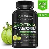 100% Pure Garcinia Cambogia Extract 95% HCA - 2100mg Appetite Suppressant - Carb Blocker Capsules - Orphic Nutrition - 90 Caps