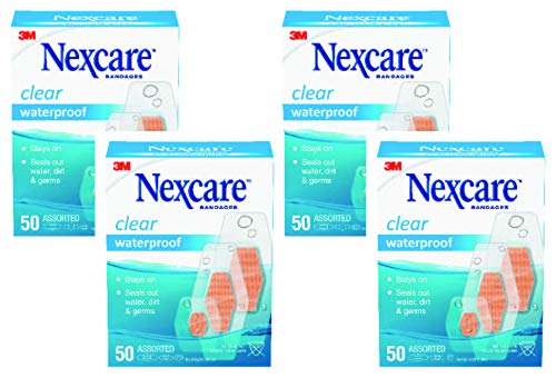 Nexcare Waterproof Bandages, Family Pack, Assorted Sizes, 50 count...