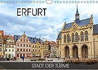 Erfurt - Stadt der Tuerme (Wandkalender 2022 DIN A4 quer): Durch alle Jahreszeiten in Erfurt (Monatskalender, 14 Seiten )