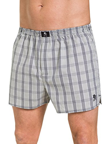Otto Kern Herren Boxershorts 100% Baumwolle I Web-Boxer mit Knopfleiste, Stickerei + Weblabel I Herren Shorts aus reiner Baumwolle I Olive Grün I Gr. L (6)