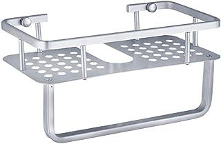 Étagère de rangement de salle de bain Support d'angle de salle de bain Aluminium Shampooing Douche Savon Étagères Cosmétiq...