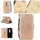 Guran® Housse en Cuir PU pour Motorola Moto X Play (5,5 pouces) Smartphone Flip Cover avec Fonction...