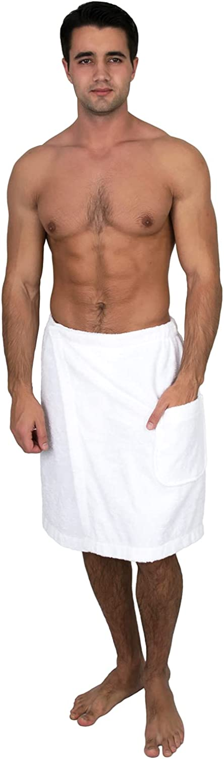 TowelSelections Special price for a limited time Men's Wrap Adjustable Cotton Bath G Shower Max 87% OFF Terry