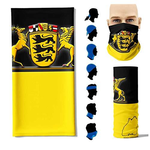 Stikkma Multifunktionstuch Baden Württemberg Flagge Face Pad+