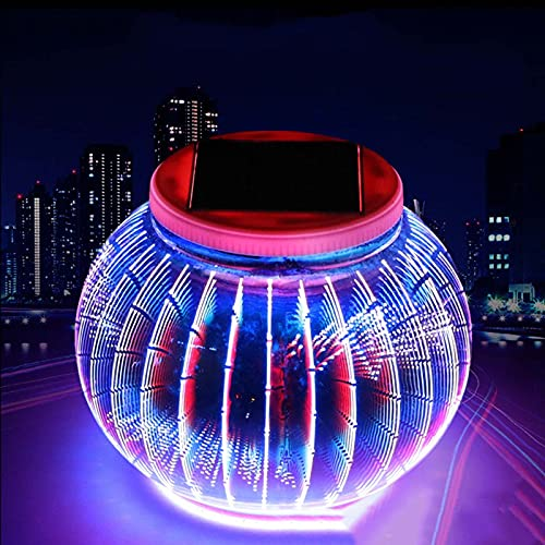 ZXIN Solarenergie LED Tischleuchte,Crystal Glass Ball Night Light Colorful Table Lamps Butterfly Light Kids Gifts Home Decoration Lights, LED Schreibtischlampe für Home Party Solar Mood Light B