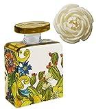 Maroc & Roll - Sicily Bottiglia Piccola DIFFUSORE Profumo Ambiente in Porcellana con Fiore di Corteccia di GELSO - SBTMIDI.B&R02