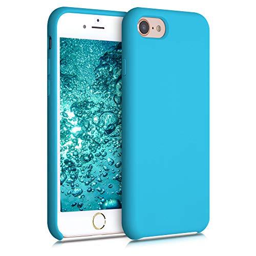 kwmobile Custodia Compatibile con Apple iPhone 7 8   SE (2020) - Cover in Silicone TPU - Back Case per Smartphone - Protezione Gommata Azzurro Mare