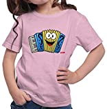 Hariz - Camiseta para niña, diseño de acordeón Rosa. 4 años