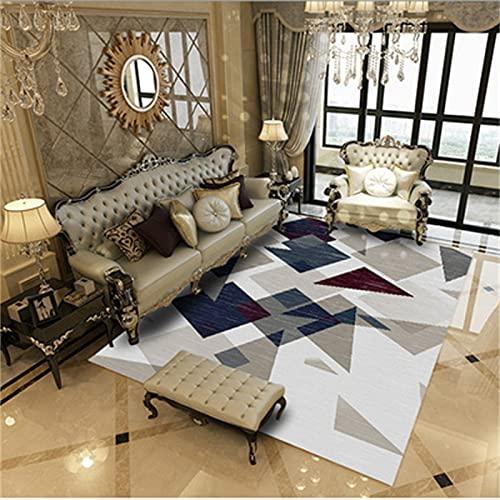 MMHJS Home Stampa Tappeto Soggiorno Camera da Letto Balcone Tappeto Decorazione Pavimento Tappeto 120x160cm E