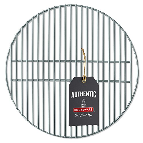 SmokeWare Stainless Steel Grill Grate – Compatible with Medium Big Green Egg, Heavy Duty Gauge, 16 inches