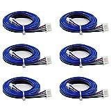 Electrely 6 Piezas Cables de Motor Paso a Paso Bipolares 1M XH2.54 Conector Cable 4pin-6pin para...