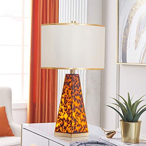 TOMSSL Leopardo De Lujo Mesa Decorativa Lámpara De Cabecera del Dormitorio De La Lámpara De Tabla Simple Moderna Sala De Estar De La Lámpara 33 * 60cm (Mando A Distancia) (Color : Control Remoto)