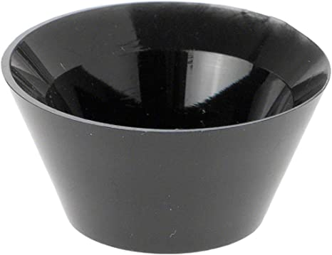 1 H x 1.625 W Marble Ball or Sphere Display Holder Stand 3 Pack Plymor Black Acrylic Egg