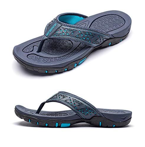 CELANDA Chanclas Piscina Hombre Verano Deportivo de Playa Sandalias Flip Flop Antideslizante Confortable Ducha Zapatillas 40-48 EU