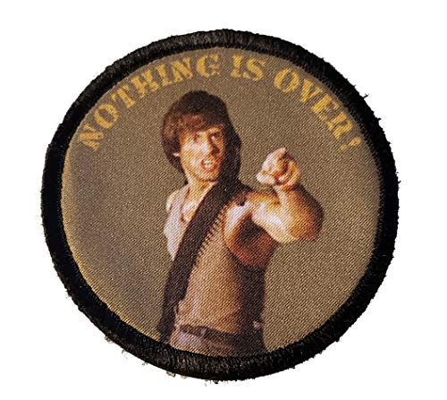 Rambo Nothing is Over Morale Patch -Made in The USA- Funny Tactical Military Army Patches Perfect for Your Plate Carrier Military Vest, hat, Backpack. Funny Patch by Redheadedtshirts!