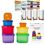 21 Day Meal Portion Containers and Food Plan - Portion Control Containers by GAINWELL