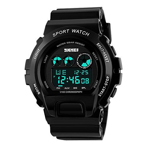 Orologio da polso digitale impermeabile uomini di sport all' aria aperta