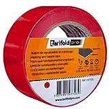 Tarifold 1 Cinta Adhesiva Suelo, Señalización, Seguridad, color Rojo-Rollo 50mm x 33m, 50 mm x 33...