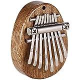 Kalimba Mini Thumb Piano 8 Keys Marimbas Portable Wooden Finger Marimbas with Lanyard Special Gifts for Kids and Adults Beginners (Mini Kalimba)